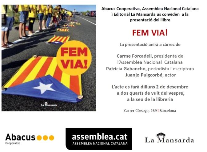 invitació presentació C.Forcadell, J.Puigcorbé, P.Gabancho 02122013