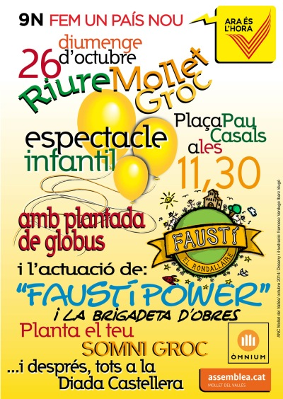 CARTELL FESTA INFANTIL 26 OCTUBRE 2014 REDUÏT