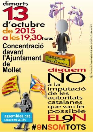 CARTELL CONCENTRACIÓ MOLLET 13-9N 300